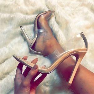 Shoes - 🆕 Clear Nude Perspex heels